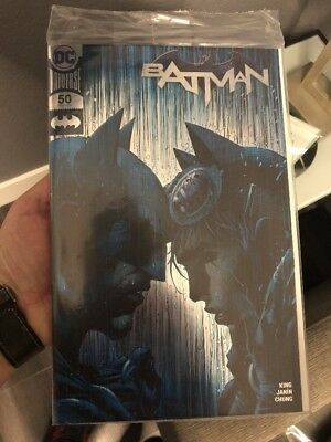 Batman #50 Jim Lee Silver Foil 2018 SDCC SDCC Exclusive IN HAND! SOLD OUT AT CON