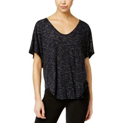 Calvin Klein Performance Womens Black Space-Dyed Pullover Top Shirt L BHFO 4447