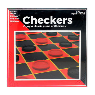 Checkers Board Game Set Kit Play Toy Family Chess Backgammon House Fun Indoor