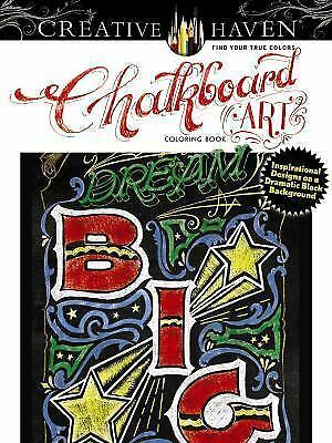 CHALKBOARD ART COLORING Book Creative Haven Dover Art Black