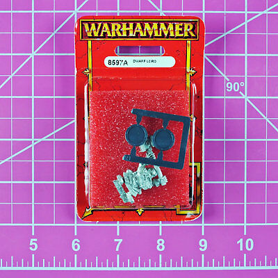Warhammer Fantasy Dwarf Lord NIB Metal - Rare OOP Games Workshop Citadel Dwarfs