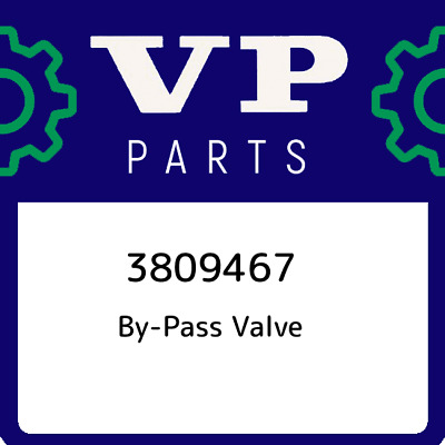 3809467 Volvo Penta By-Pass Valve, New Genuine OEM Part