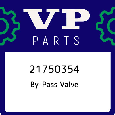 21750354 Volvo Penta By-Pass Valve, New Genuine OEM Part