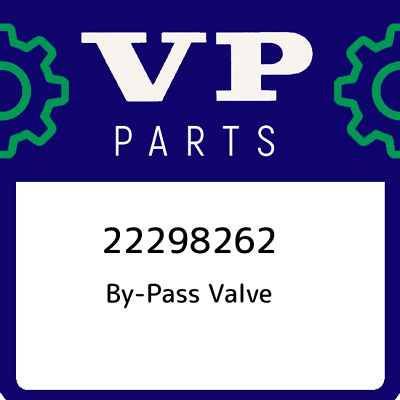 22298262 Volvo Penta By-Pass Valve, New Genuine OEM Part