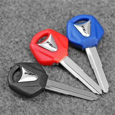 3 Color Right Blade Blank Blade Uncut Key Fit For Yamaha YZF R1 R6 R8 Motorcycle