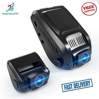 T20P Dual Car Dash Cam FHD 1080p 170° Wide Angle Night Vision Front and Rear Car