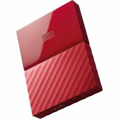 WESTERN DIGITAL MY PASSPORT RED HDD 625MB/s 1TB USB 3.0 EXTERNAL HARD DRIVE st