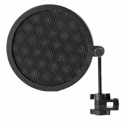 Microphone Double Layer Wind Screen Pop Filter Swivel Mount Mask Shied (NEW)