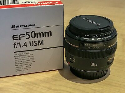 Canon EF 50 mm F/1.4 EF USM Ultrasonic for Canon - Black with UV Filter