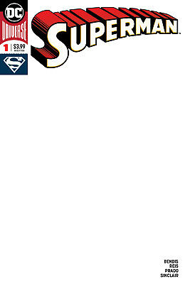 Superman #1 Blank Cover Dc Universe - 1St Print - Bagged & Boarded. Free Uk P+P!