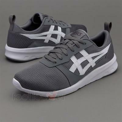 Shoes Asics Lyte-Jogger H7G1N 9701 Mens Carbon White Casual Fashion Sneakers