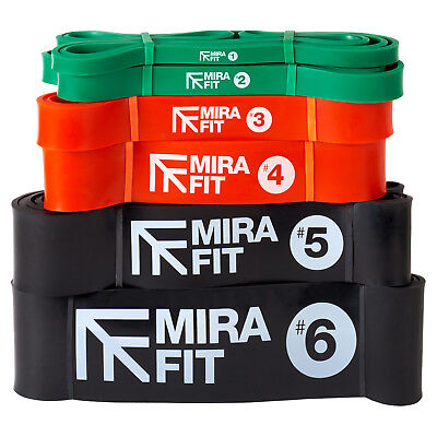 Mirafit Resistance Loop Bands Home Fitness Exercise Strength Yoga Natural Latex