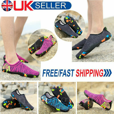 Men Women Water Shoes Aqua Shoes Beach Wet Wetsuit Shoes Swimming Surf Shoes UK