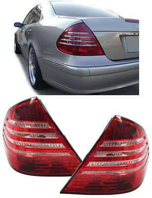 CLEAR LED REAR LIGHTS FOR MERCEDES E CLASS W211  2//2002-6//2006 MODEL