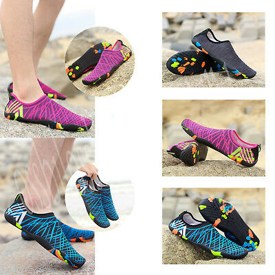 Men Womens Water Shoes Aqua Beach Wetsuit Shoes Swim Surf Shoes Size Non-slip OS
