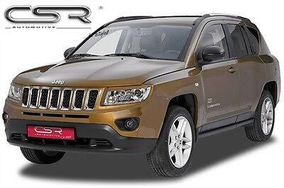 Race Design Headlight Brows Eyelids Eyebrows For Jeep Compass 2011 Onwards