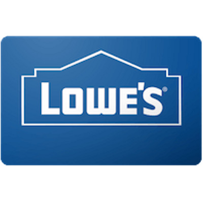 Lowes Gift Card $50 Value, Only $48.00! Free Shipping!