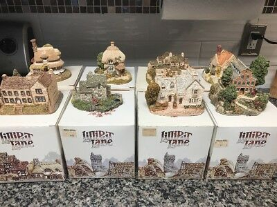 Lot Of 8 Medium Sized Lilliput Lane House With Boxes And Some Deeds