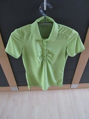 active by Tchibo TCM Funktionsshirt Sportshirt Polo-Shirt Damen grün Gr. S