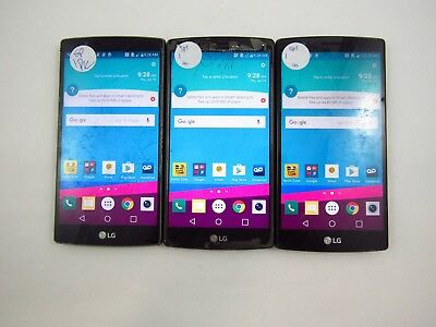 Lot of 3 Cracked LG G4 LS991 Sprint Check IMEI 5CR 1798