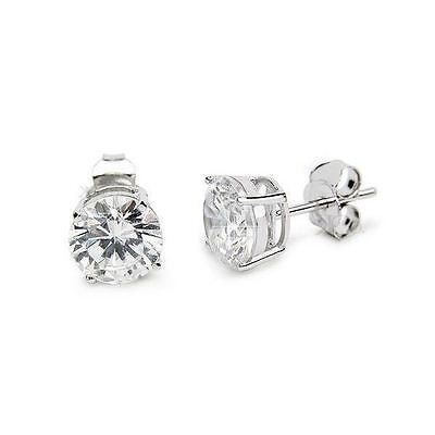 fbc6392c6 Sterling Silver Diamonique CZ Basket Round Stud Earrings in All Carat Sizes  925