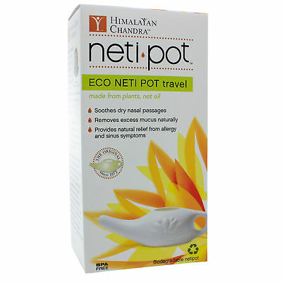 Himalayan Institute, ECO Neti Pot/Non-Breakable Travel With Neti Salt, 6 Ounces