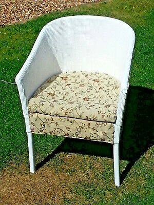 Vintage retro Lloyd Loom Style Chair ideal for conservatory, bedroom or bathroom
