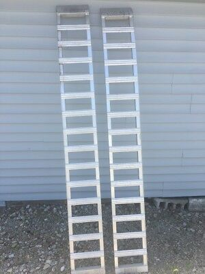 """Better Built ATV 750 lb 86"""" inch Aluminum Arched Loading Ramps"""