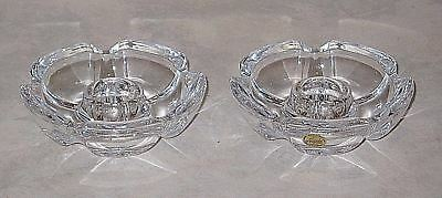 Nice Pair of Cristal d'Arques Lude 24% Lead Crystal Candlesticks Candle Holders