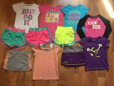 Girls Nike Under Armour Lot 5 5t 11 Pieces EUC Cheer School Clothes