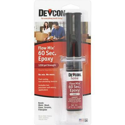 3 Pk Devcon Flow-Mix 0.5 Oz. Clear Extremely Fast High-Quality 60 Second Epoxy