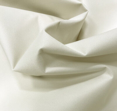 Cream Heavy Duty Thick Waterproof Canvas Fabric 600D Outdoor Cover Sold By Metre