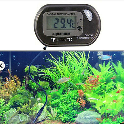 LCD Digital Fish Tank Reptile Aquarium Water Meter Thermometer Temperature Grace