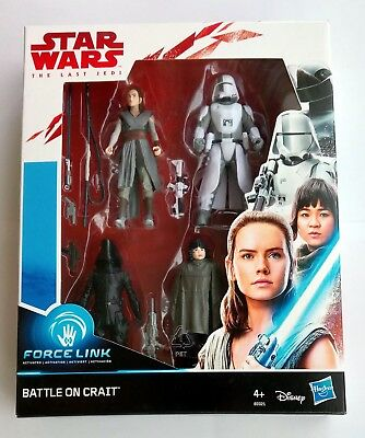 "Star Wars THE LAST JEDI 4-Pack 3,75"" Hasbro Force Link BATTLE ON CRAIT Gunner !!"