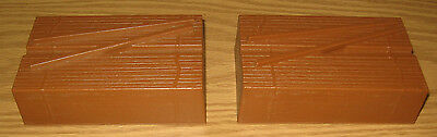 Lionel Trains Large G Scale Part Plastic Lumber Wood Pile Camouflage Cover Pair