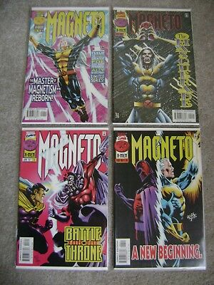 Magneto #1 2 3 4 Complete Series Set Direct Edition Marvel Comics 1996 X-Men