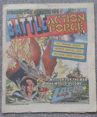 BATTLE ACTION FORCE Comic - 25th March 1986