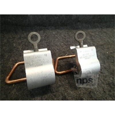 Lot of 2 Fargo GH-286 A Stirrup Clamps, 4/0AWG, Aluminum