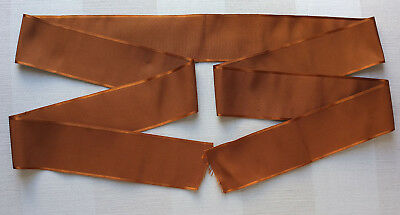 90 ins antique satin edged silk ribbon from France