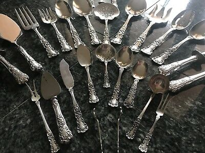 Massive, Old Marks,  Buttercup by Gorham Sterling Silver Flatware Serving Set