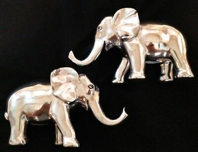 NEW! Pottery Barn Baby Silver Elephant Bookends