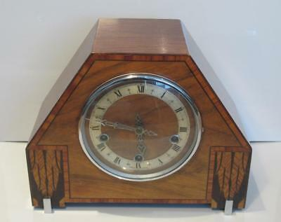 Vintage c1940 Enfield Clock Co 8 Day Westminster Chimes Mantle Clock