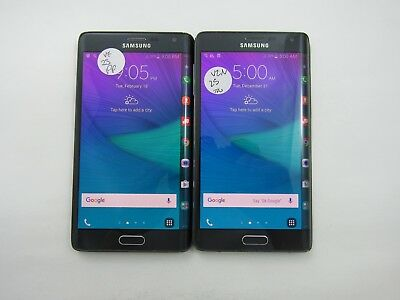 Lot of 2 Samsung Galaxy Note 4 Edge N915V Verizon Check IMEI Grade D 5-1630