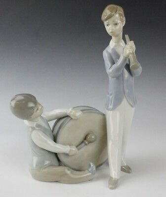 Retired LLADRO Spain Group Of Musicians Boys 4617 Drum Porcelain Figurine NR LSP