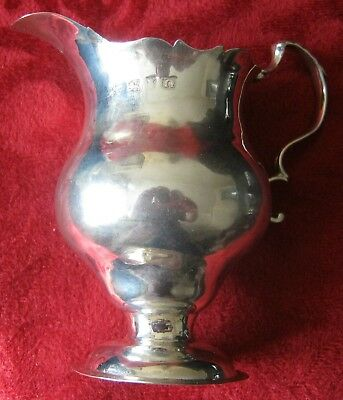 Solid Silver Milk Jug made in London in 1768 by NS & AN (unrecorded)