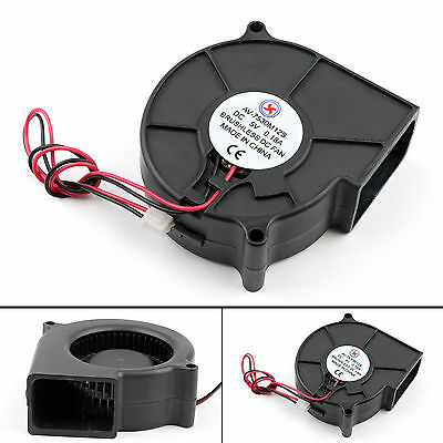 Brushless DC Cooling Blower Fan 5V 7530S 75x75x30mm 0.18A Sleeve 2 Pin Wire SA