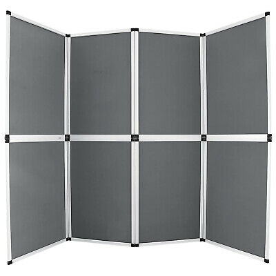 8 Panel Fabric Room Divider Fold Screen Velcro Triangle Towe Portable Tabletop