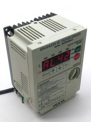 Vexta BLFD60A2 Brushless DC Motor Drive In: 100-120VAC Out: 0-240V .36A 3 Phase