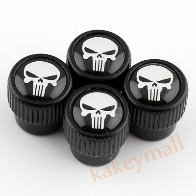 4PCS Air Dust Wheel Tire Tyre Valve Caps For Pirate Beard Skull Head Accessories
