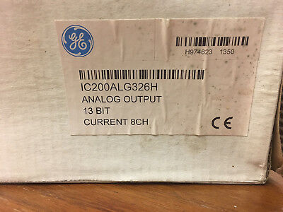 GE IC200ALG326H Analog Output 13 Bit Current 8 Channel Brand New